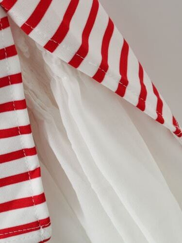 Платье красно белое