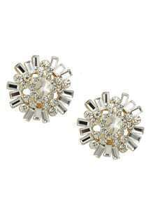 White Rhinestone Stud Earrings