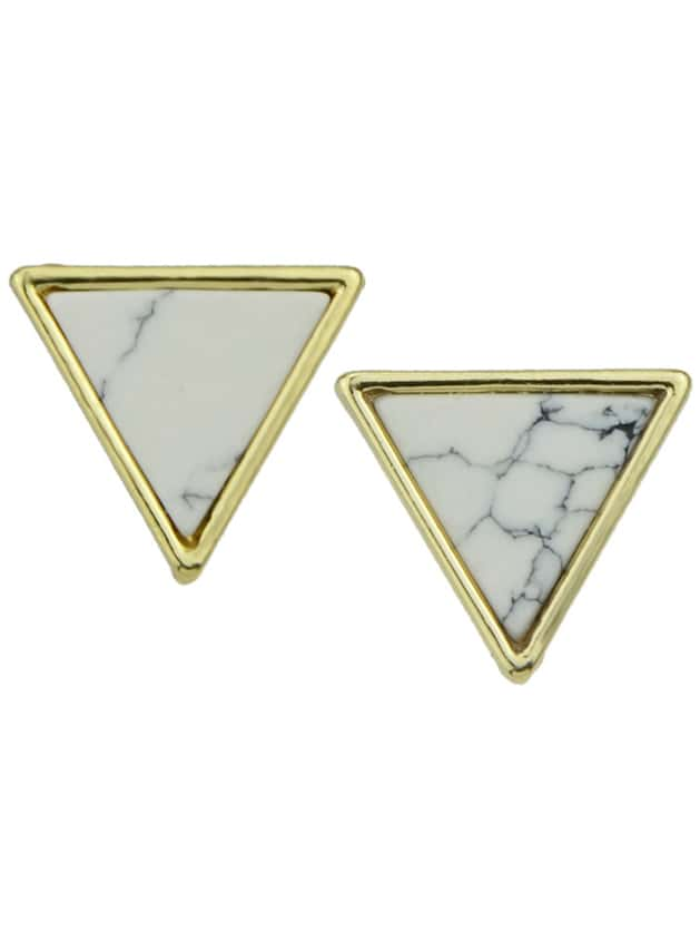 Image of Triangle Different Shape Stud Earrings