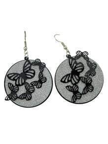 Butterfly Big Round Earrings