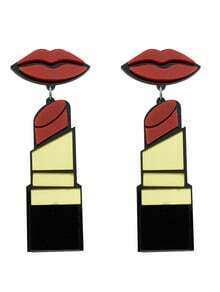Boucles d'oreilles avec pendentif lèvre à rouge