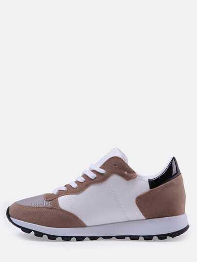 Sneakers cordón casual -negro