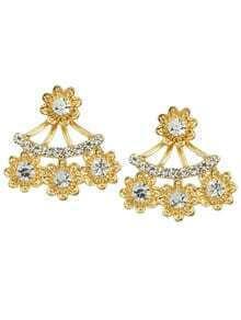 White Rhinestone Stud Earrings