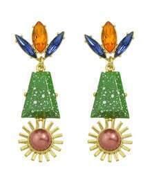 Flower Shape Hanging Stud Earrings