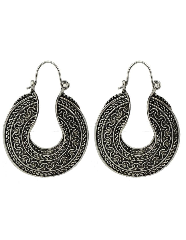 Silver Plated Large Hoop Earrings