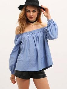 Off Shoulder Top With Shirring