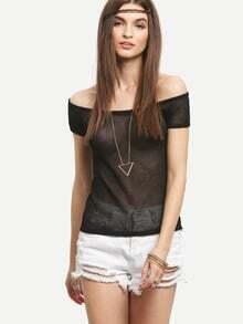 Black Off The Shoulder T-shirt