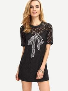 Cami Dress With Printed Lace Cover-Up