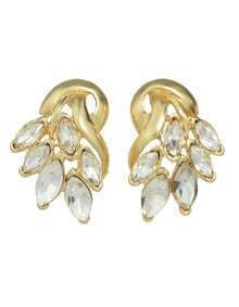 Gold Plated Rhinestone Small Stud Earring