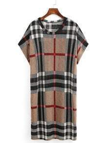 Plaid Loose Fit Dress