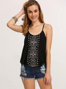 Embroidery Chiffon Cami Top