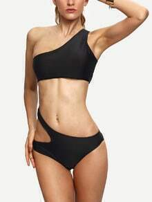 One Shoulder Cutout Monokini