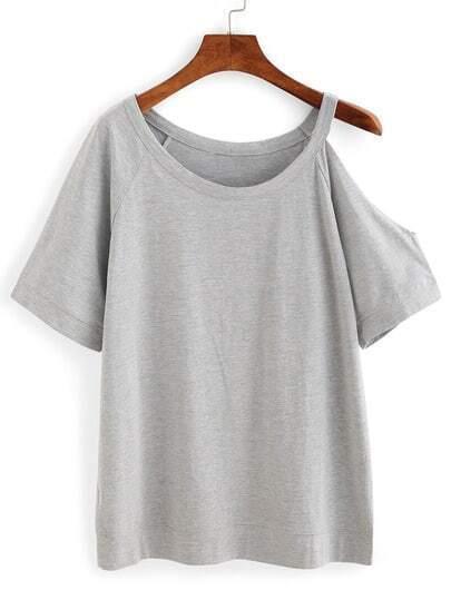 Cutout One-Shoulder T-shirt