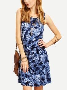 Multicolor Sleeveless Ikat Print Shift Dress