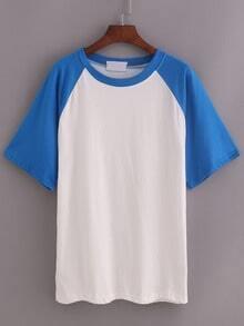 Blue Short Sleeve Raglan T-shirt