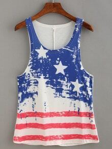 Stars and Stripes Print Tank Top