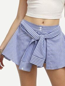 Blue Horizontal Stripe Culottes