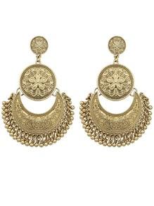 Gold Plated Big Chandelier Earrings
