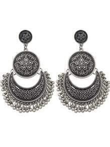 Silver Plated Big Chandelier Earrings