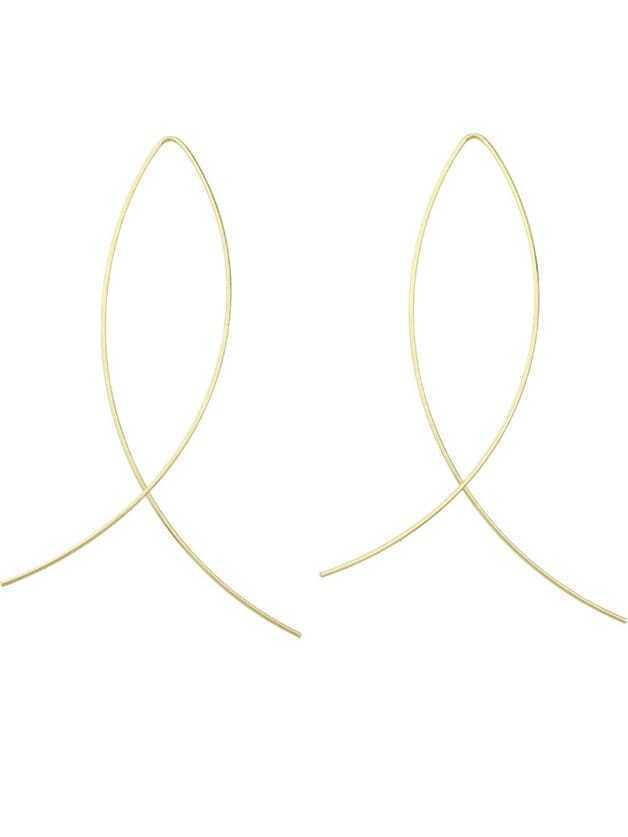 Фото Gold Plated Stick Earrings. Купить с доставкой