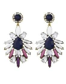 Rhinestone Hanging Shourouk Earrings