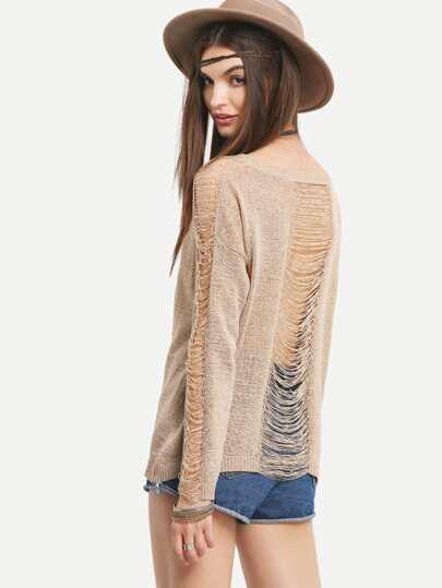 Light Coffee Long Sleeve Sweater