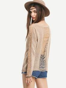 Light Coffee Long Sleeve Sweater