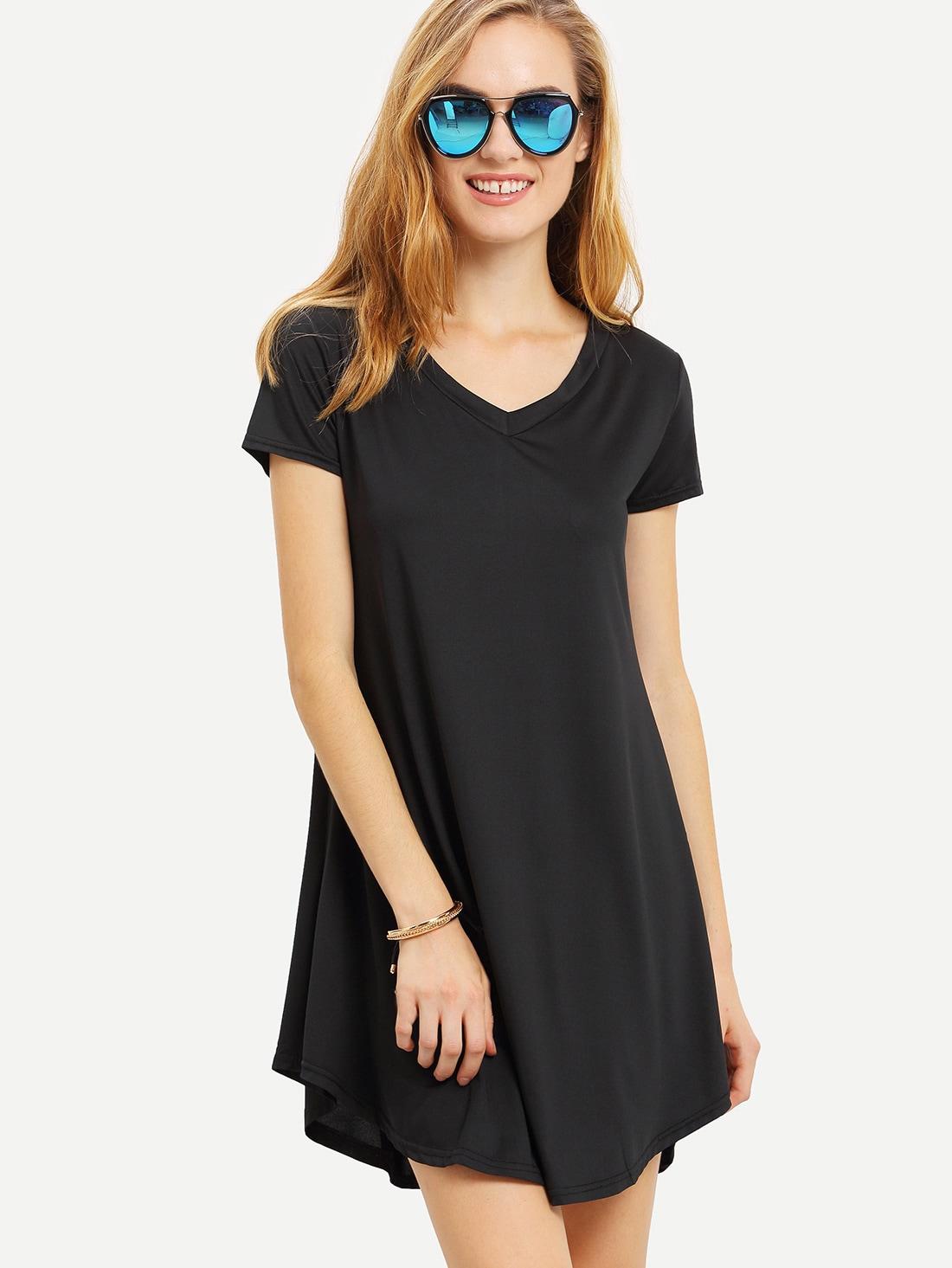 Фото V-Neck Swing Dress. Купить с доставкой