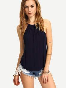 High-Low Halter Neck Top