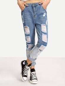 Ripped Ombre Jeans