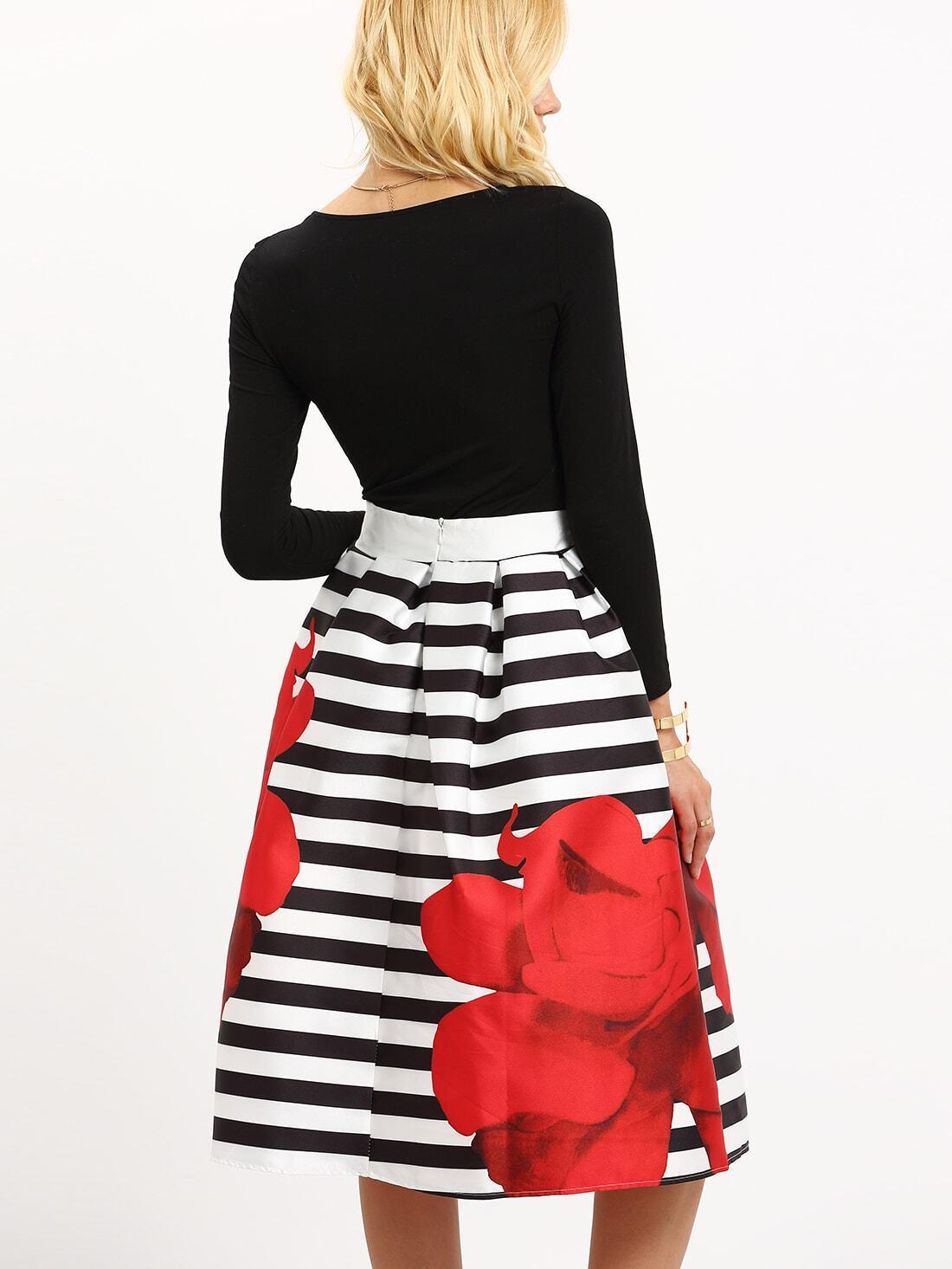 Полосатая юбка доставка