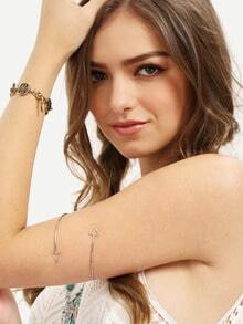 Silver Hollow Triangle Minimalist Arm Cuff