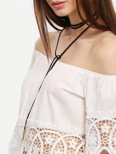 Metal Linear Minimalist Bolo Necklace