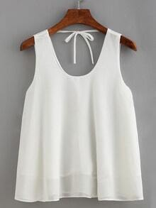 Tie-Back Chiffon Tank Top