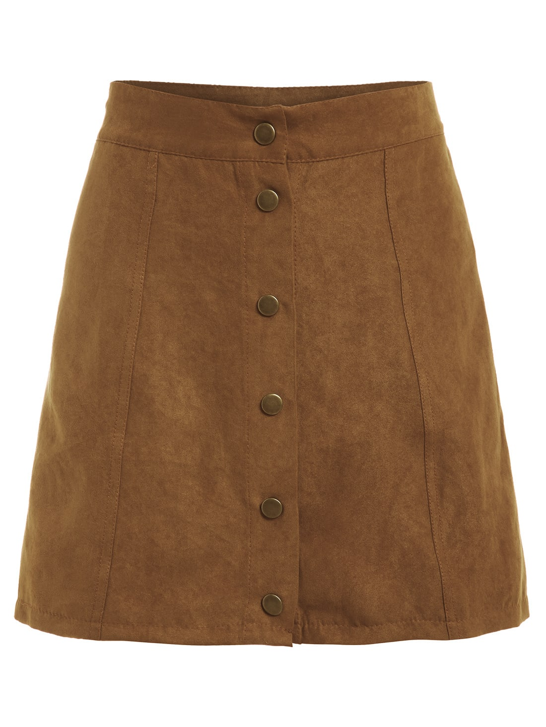 Available In Black High Rise Mini Skirt A-Line Cut Wet-Look Faux Leather Back Zipper 2 Pockets