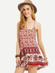 Tribal Print Racerback Cami Dress