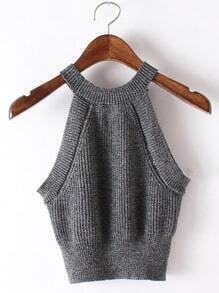 Grey Slim Basic Camis Top