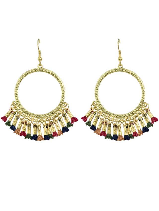 Фото Colorful Tassel Chandelier Earrings. Купить с доставкой