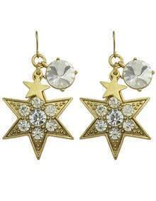 Rhinestone Star Drop Dangle Earrings