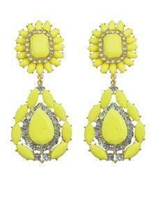 Yellow Flower Statement Earrings