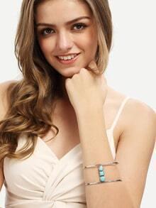 Turquoise Minimalist Wide Bracelet