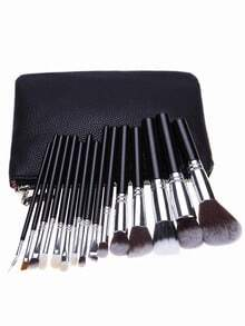 15PCS Makeup Set Brushes Tools With Bag-Black