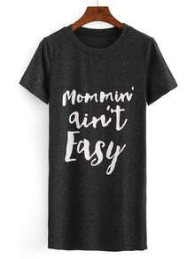 Letter Print Loose-Fit T-shirt Dress