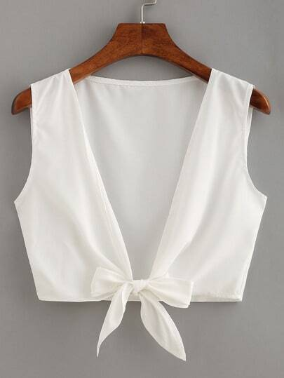 Knot Front Crop Top