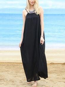 Drop Armhole Loose-Fit Long Cami Dress