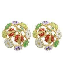 Eamel Flower Small Stud Earrings