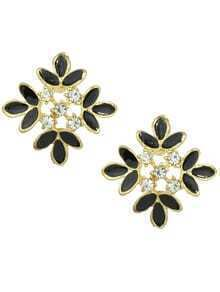 Enamel Stud Flower Earrings