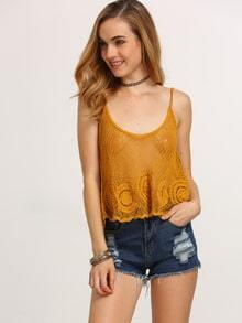 Hollow Out Swing Crochet Cami Top