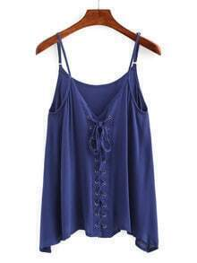 Lace-Up Front Swing Cami Top