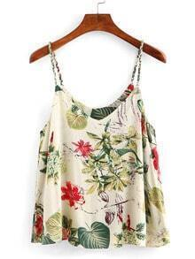 Flower Print Swing Cami Top